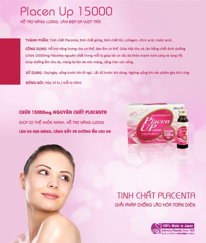Nước uống bổ sung  Placenta Placen up 15000